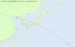 20180402天宮1号の落下直前・日本付近
