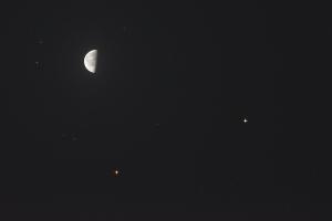 20180408月・火星・土星の接近