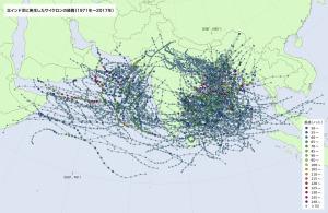北インド洋のサイクロン
