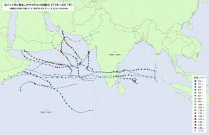 北インド洋のサイクロン(抜粋)