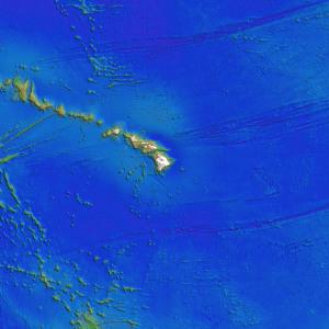 ハワイ諸島付近の海底地形