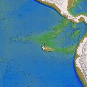 ガラパゴス諸島付近の海底地形