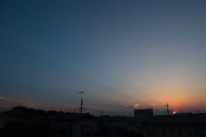 20180715夕日と反薄明光線