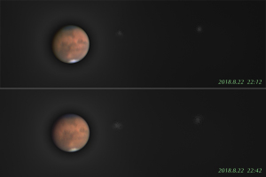 20180822火星自転と衛星公転