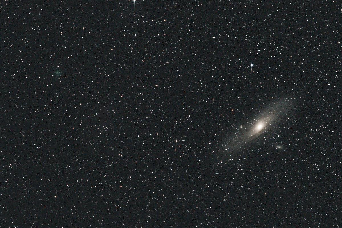 20181102スイフト・ゲーレルス彗星(64P)とM31