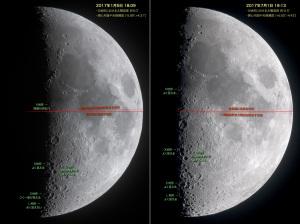 2017年の月面LOVEタイミング比較