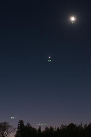 2019年元旦の夜明け・月と惑星たち