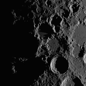 月面X地形周辺