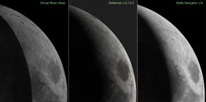 天文ソフトの月面表現