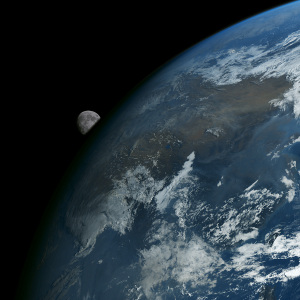 20190417地球と月