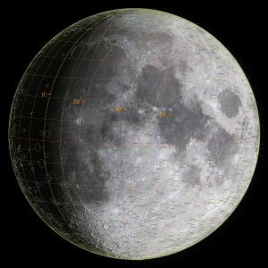 太陽黄経差135度の月面