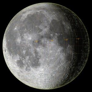 太陽黄経差225度の月面