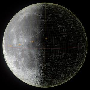 太陽黄経差270度の月面