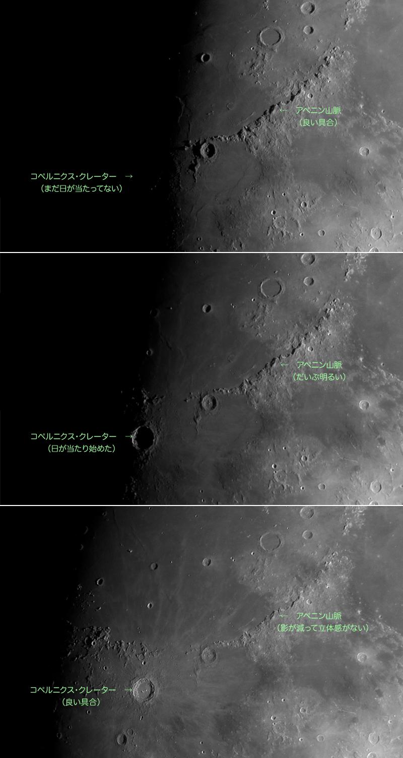 月面の日照比較