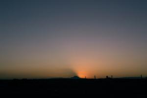 20121206富士山の影