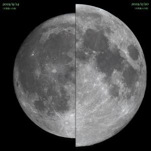 2019年の満月最大最小比較