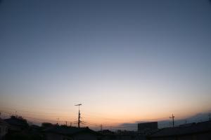 20190917日没直後の西空
