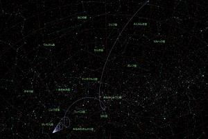 ボリソフ彗星(C/2019 Q4 = 2I/Borisov)星図2
