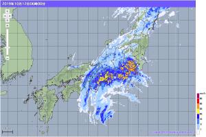 20191012-0600降雨レーダー