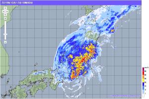 20191012-1800降雨レーダー