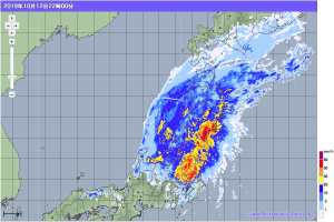 20191012-2200降雨レーダー