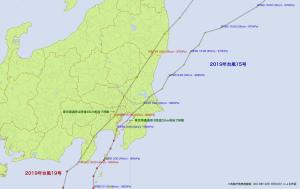 20191013-0900台風19号経路