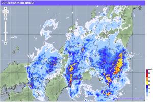 20191025-0900降雨レーダー