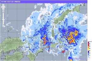 20191025-1200降雨レーダー