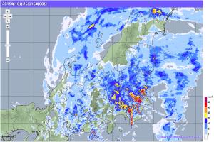 20191025-1500降雨レーダー