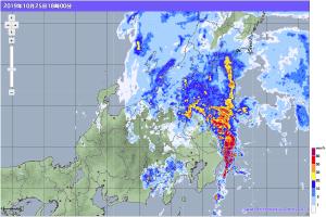 20191025-1800降雨レーダー