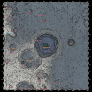 Theophilus月面図