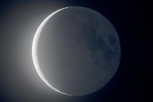 20191224明け方の月