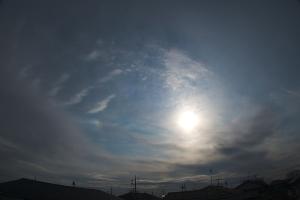 20200116太陽と幻日