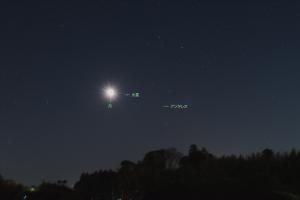 20200121昇るさそり座と月・火星