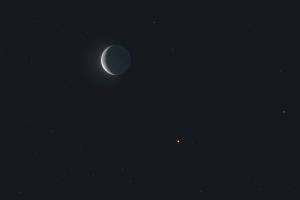 20200121月と火星の接近