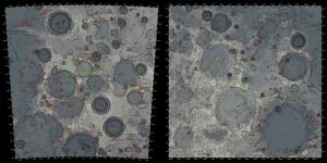 月面Xと月面Aの地形比較