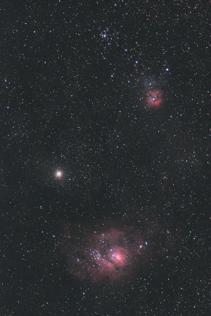 20200219火星と星雲・星団の接近