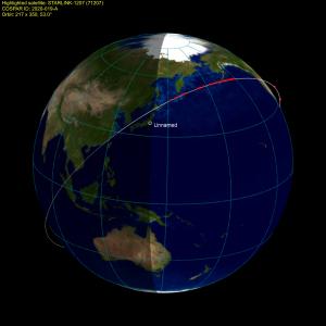 20200324スターリンク衛星群(3月18日打ち上げ)