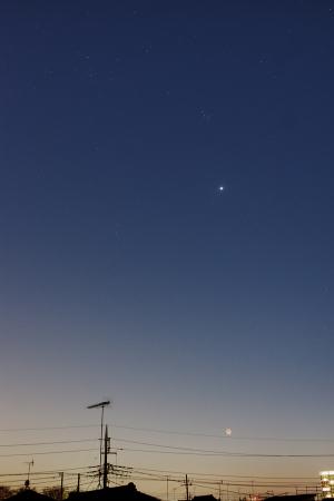20200326夕空の星々