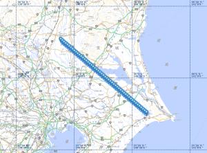20200406金星面のISS通過マップ