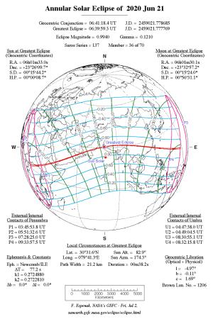20200621日食図(NASA)