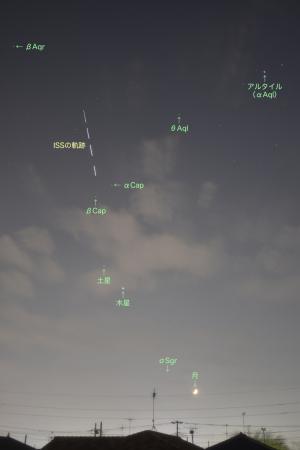 20201118国際宇宙ステーションの通過
