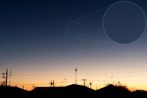 20201221夕空の木星と土星