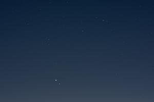 20201226木星と土星の接近