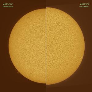 20210102太陽の大きさ比較
