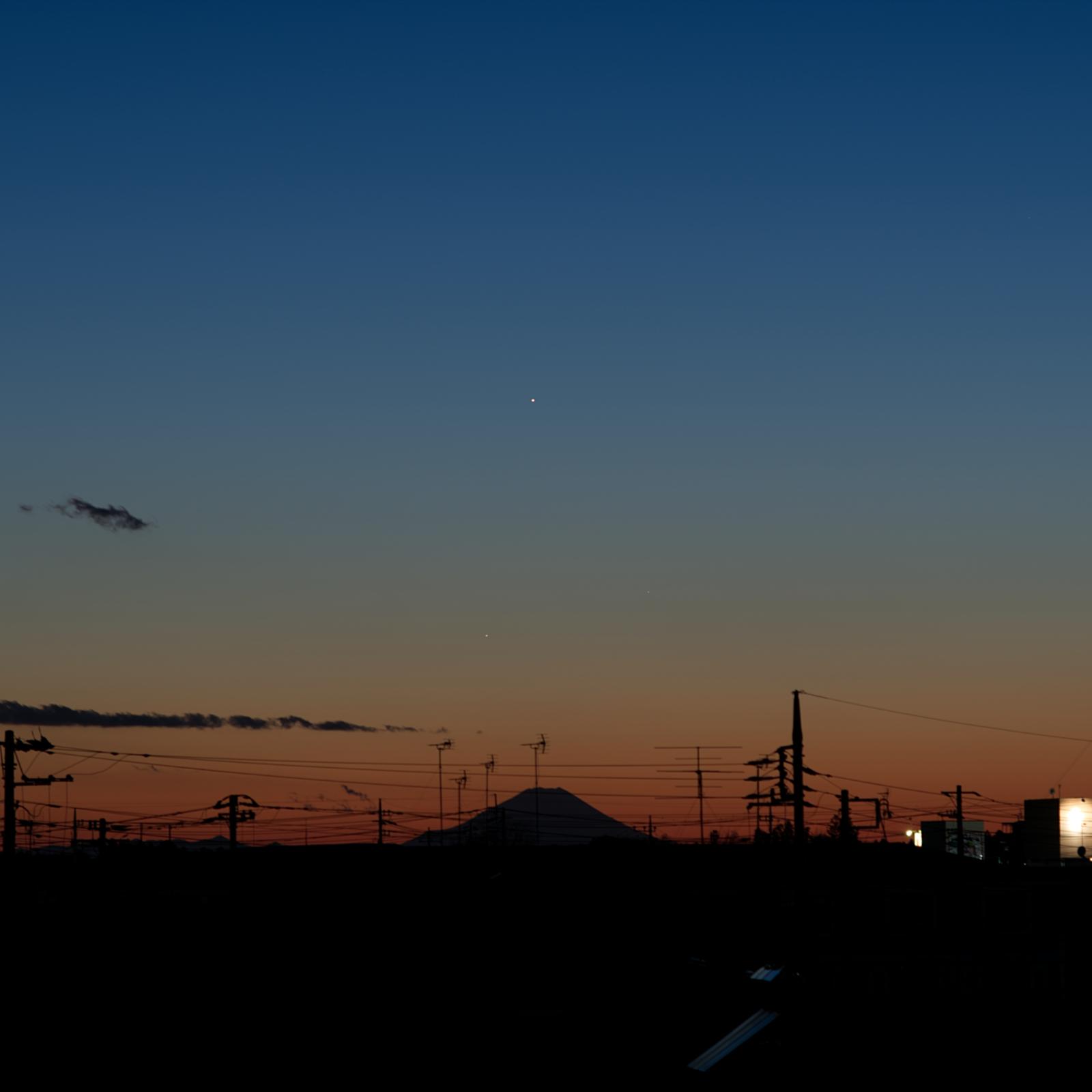 20210110木星・土星・水星・富士山