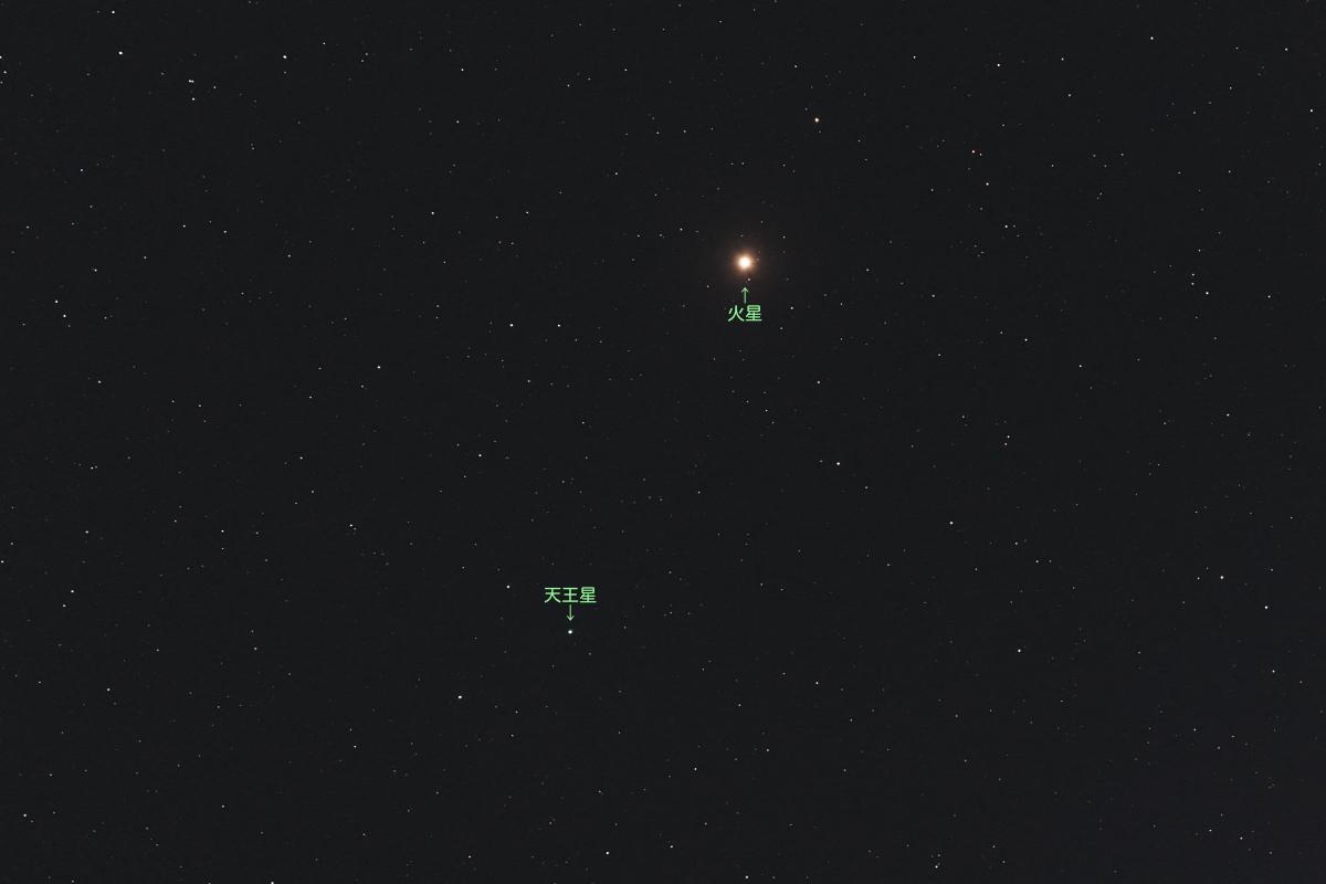20210120火星と天王星の接近