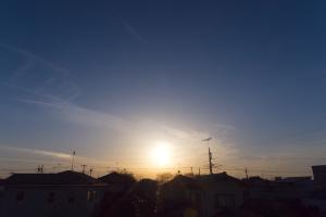 20210211夕日と幻日