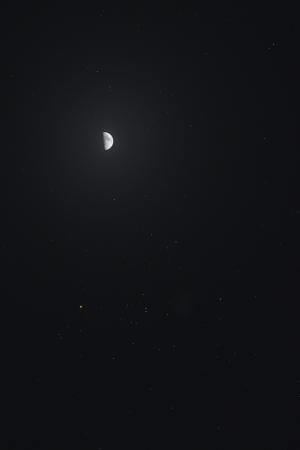 20210220月とヒアデス星団の接近
