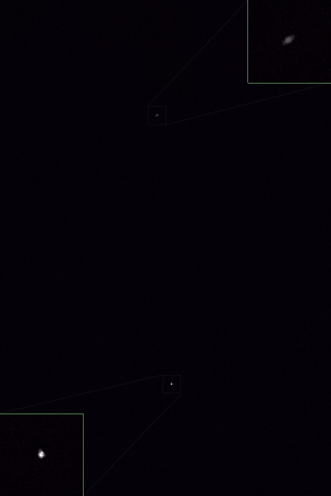 20210423土星と国際宇宙ステーションの接近